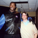 "Gary Weimberg, Shaquille O'Neal, on the set of ""The Story of Fathers and Sons"""