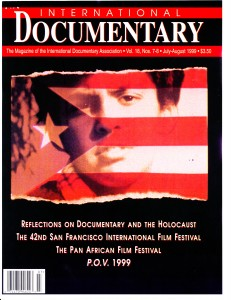 IDA International Documentary Association, cover, 7/1999, The Double Life of Ernesto Gomez Gomez, intrntldoc 7.99