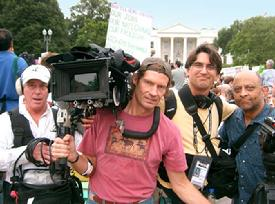 Gary Weimberg and crew, documentary film maker, Luna Productions, Soldiers of Conscience