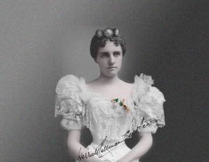 Harriett Pullman Carolan, Heiress and Builder of Chateau, Wedding portrait, photo courtesy of Warren Pullman Miller
