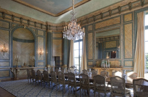 Dining Room, Chateau Carolands, Photo by Mick Hales