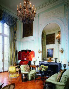 Green Salon, Chateau Carolands, Photo by Mick Hales