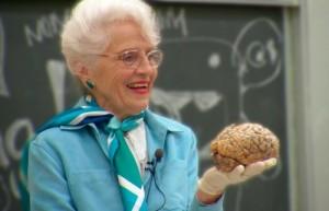 Dr. Marian Diamond, brain, anatomy, Integrative Biology 131 - marian_brain_v4