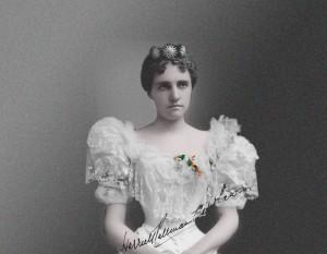 Harriett Pullman Carolan, Heiress and Builder of Chateau, Wedding portrait, photo courtesy of Warren Pullman Miller
