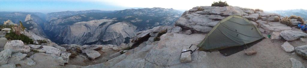 Pre-Dawn, my campsite, Cloud's Rest, Yosemite (3K image)