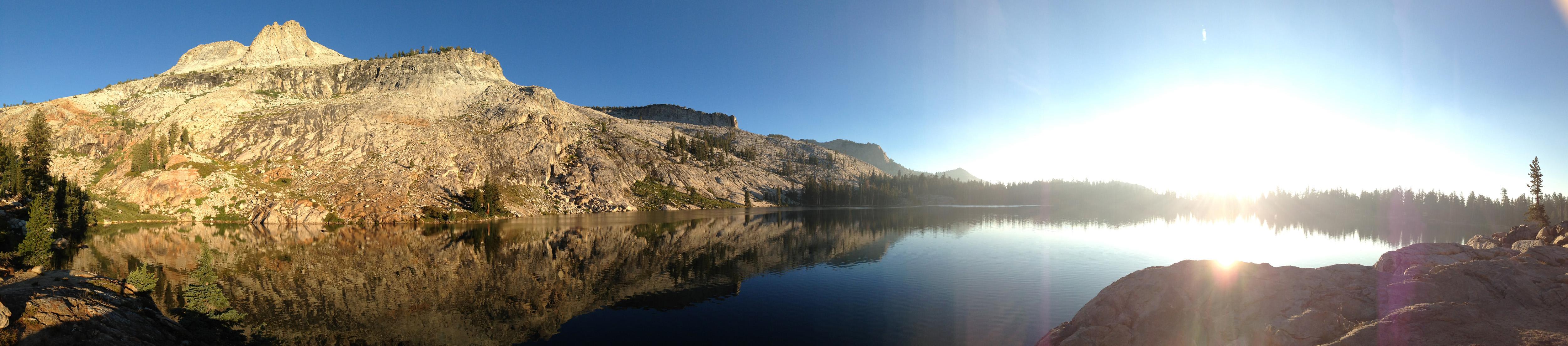 May Lake and reflection of Mt Hoffman at Dawn