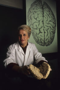 Portrait of Doctor Marion Diamond, a brain researcher at UC-Berkeley.