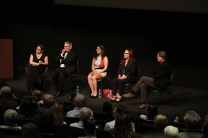 5 panelists listen